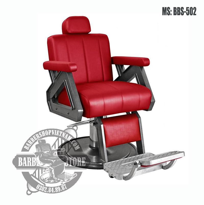 Ghế cắt tóc nam BBS-502 mẫu đỏ