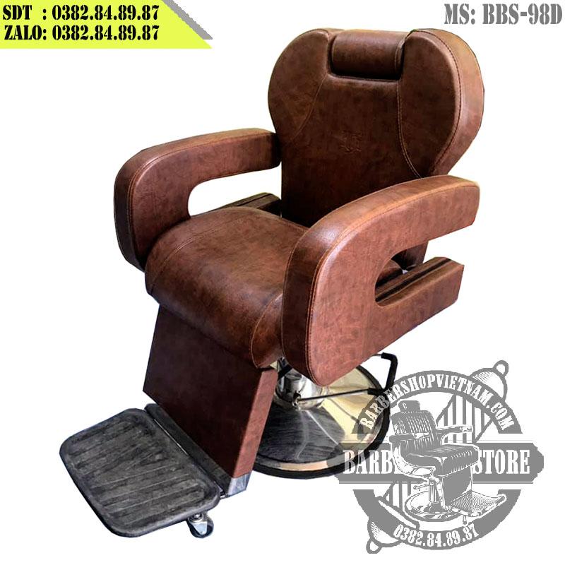 Ghế hớt tóc nam BBS-098D phiên bản màu nâu