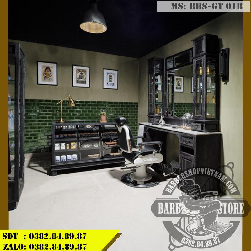 Gương tủ Barber Shop BBS-GT 01B tại tiệm