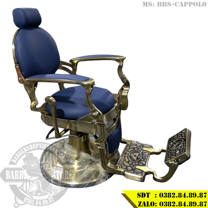 Ghế cắt tóc nam BBS-Cappolo bản màu xanh